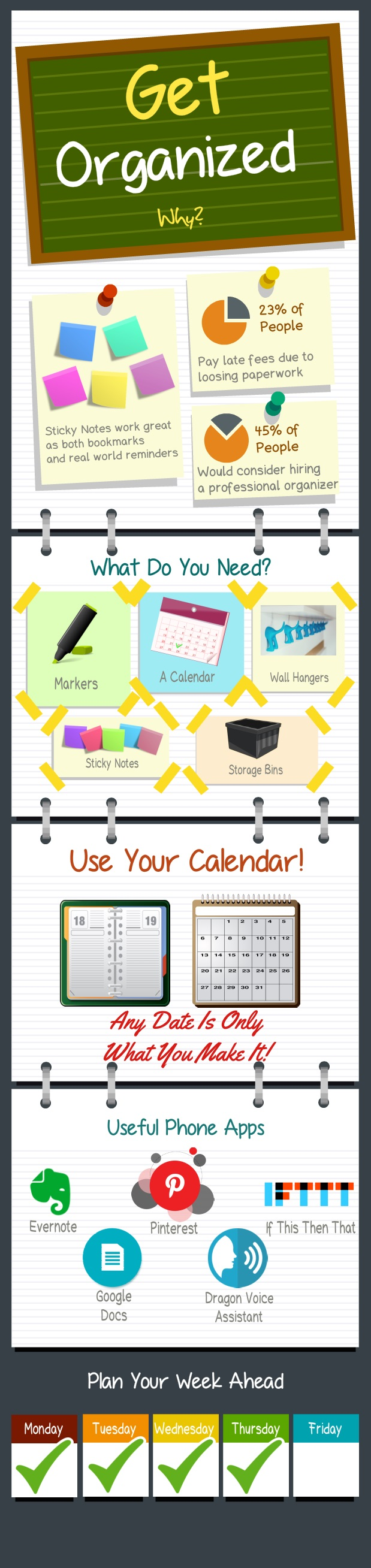 get organized tips infographic