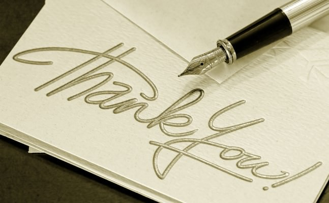 thank you note day