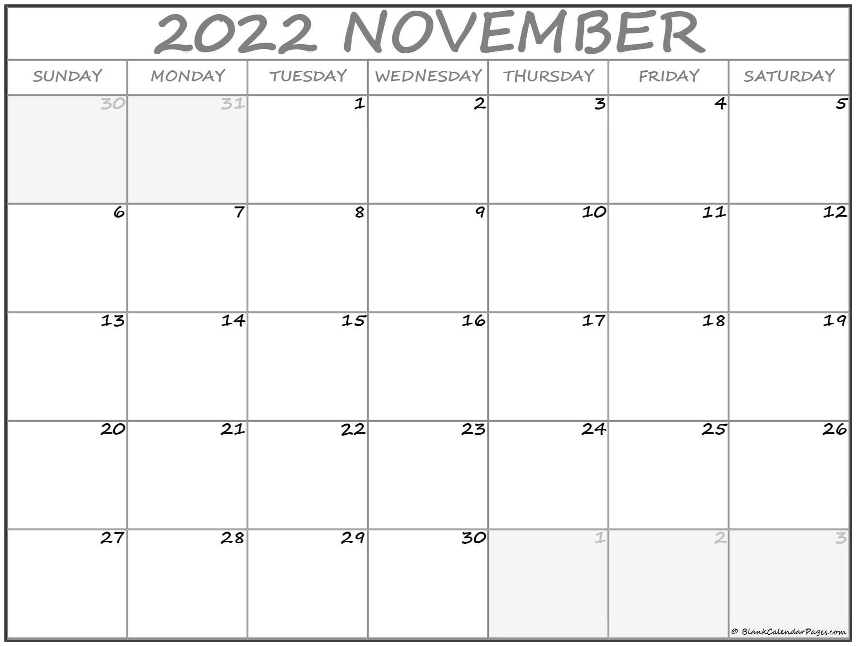 November 2022 calendar | free printable monthly calendars