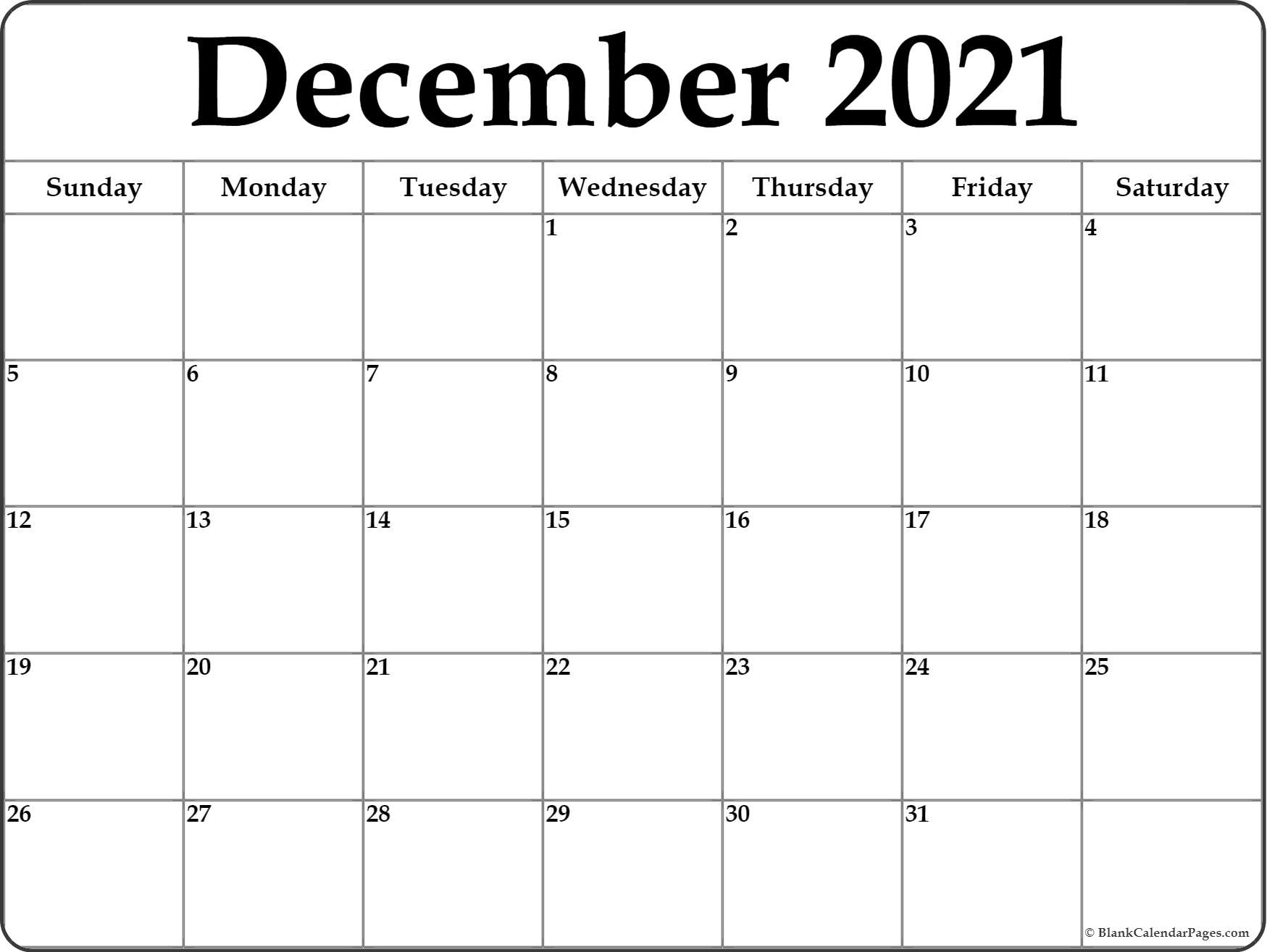 Free Printable 2020 Monthly Calendar.December 2020 Calendar Free Printable Monthly Calendars