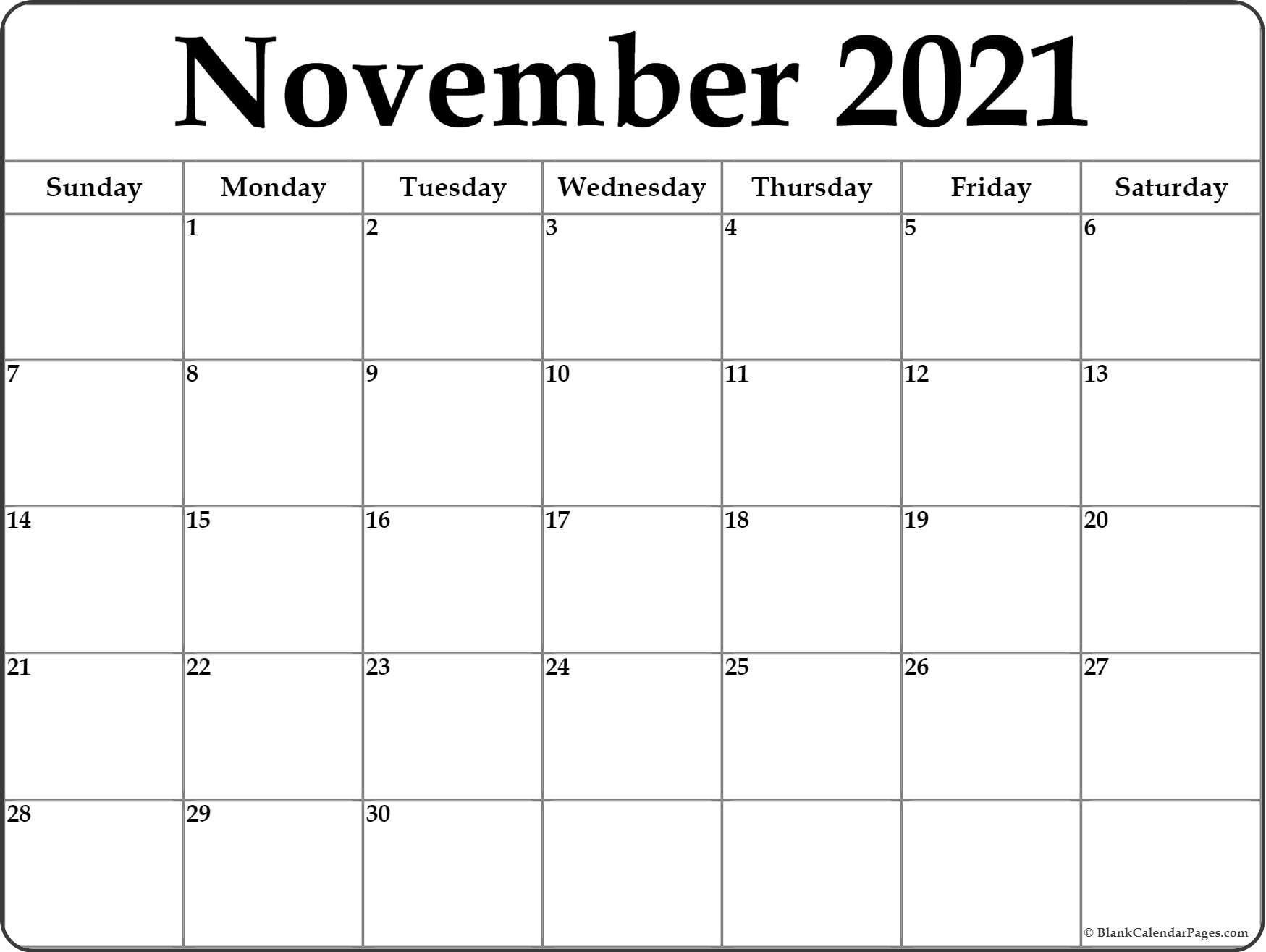 picture about Printable November Calendars called November 2018 calendar totally free printable regular monthly calendars
