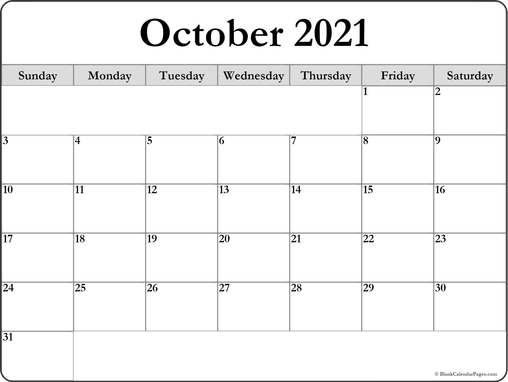 It is a photo of Revered October 2020 Printable