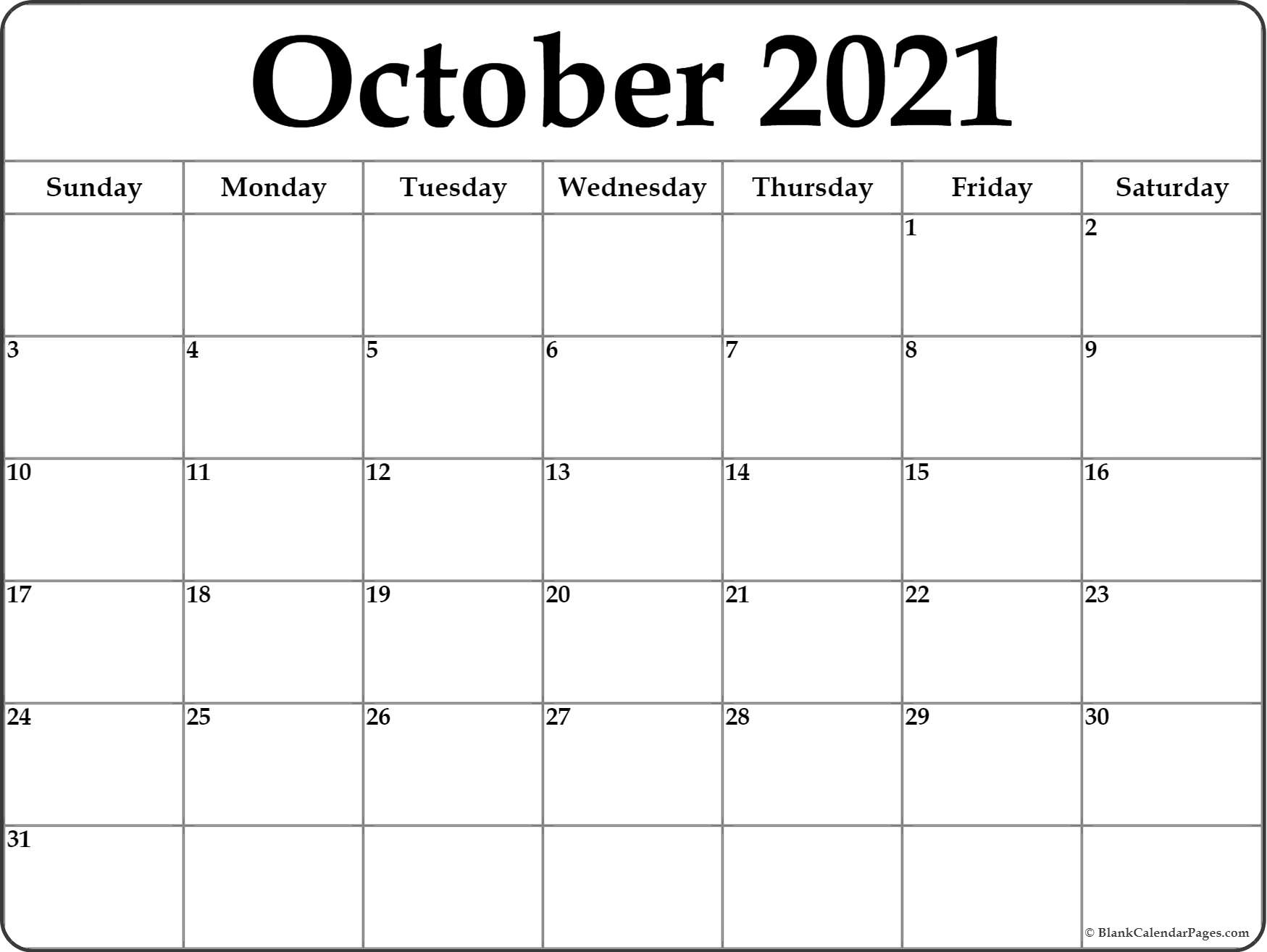 graphic relating to Printable Oct Calendar named Oct 2019 calendar absolutely free printable regular calendars