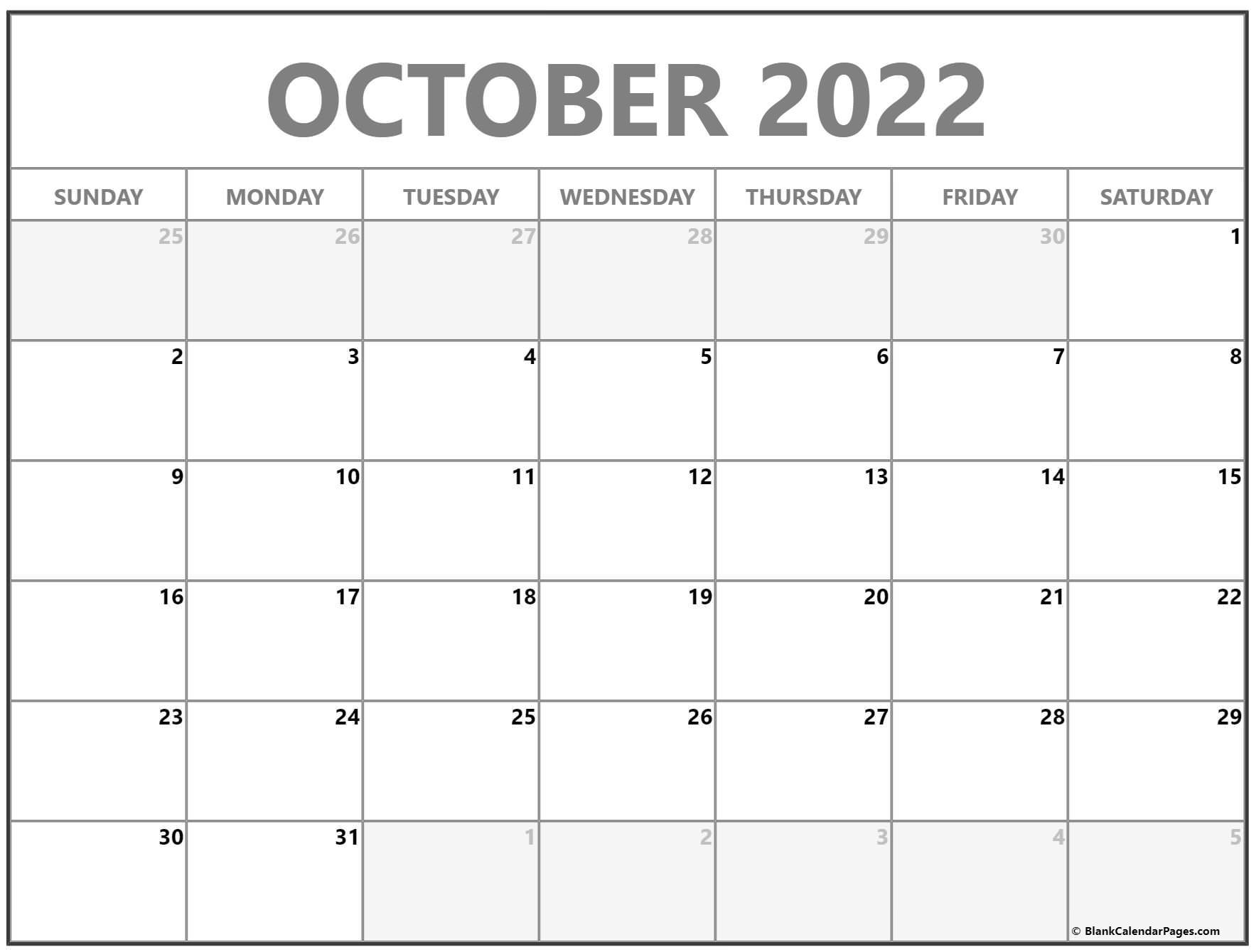 October 2022 calendar | free printable monthly calendars