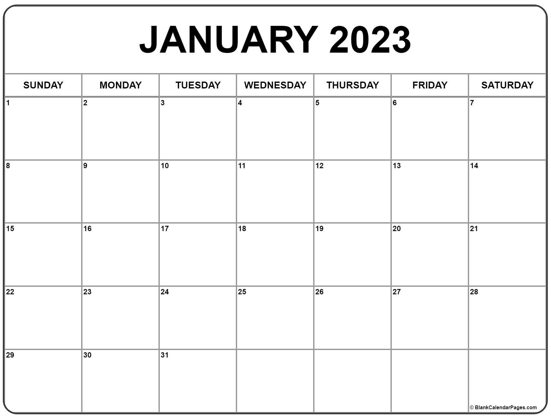 December 2022 And January 2023 Calendar.January 2023 Calendar Free Printable Calendar Templates