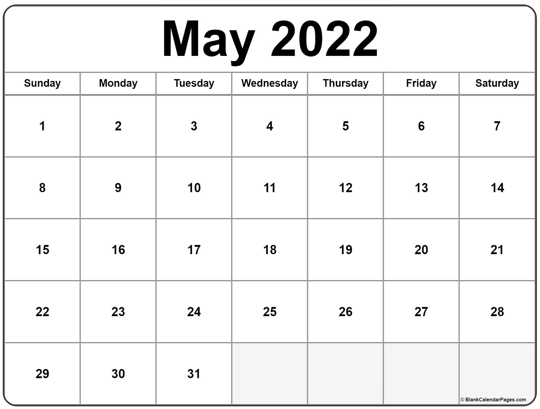 May 2022 calendar | free printable monthly calendars