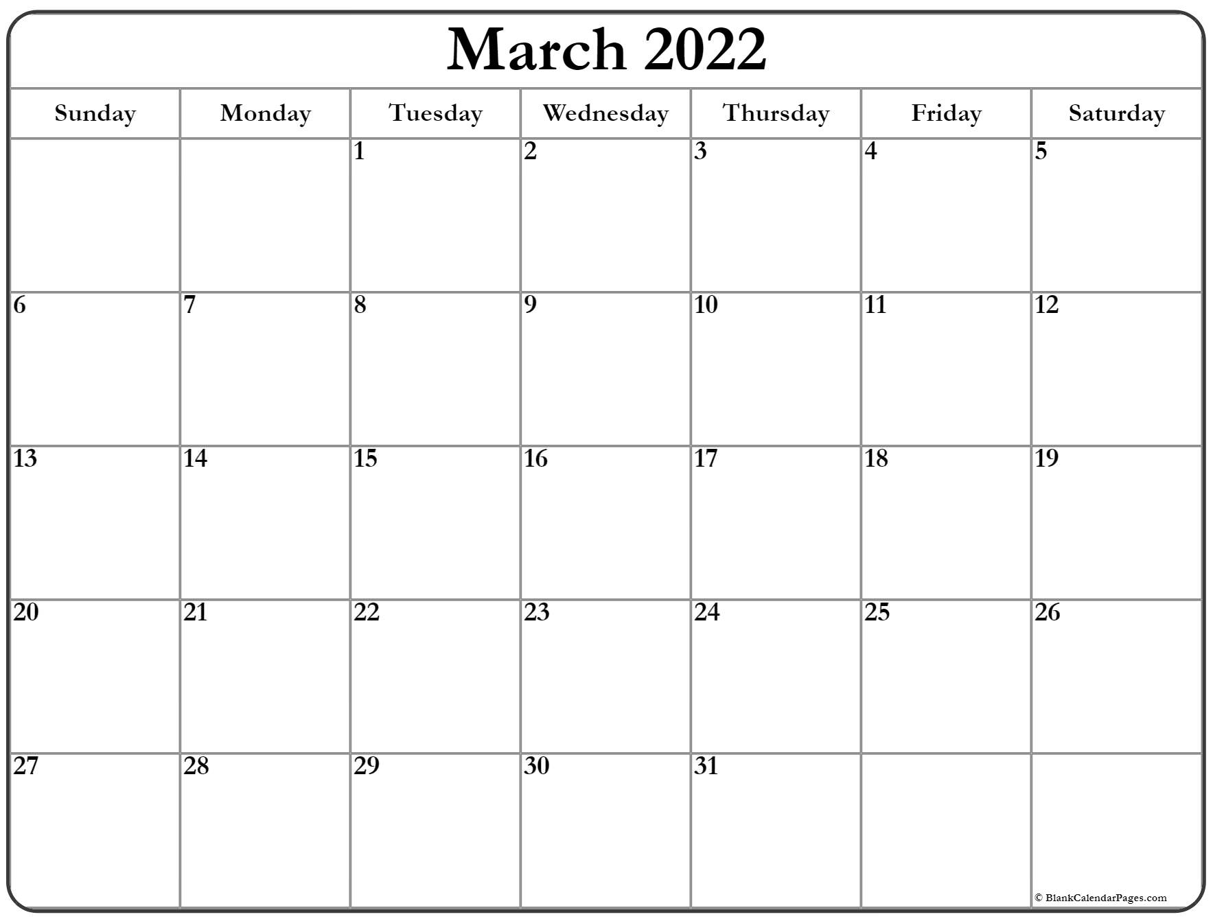 March 2022 calendar | free printable monthly calendars