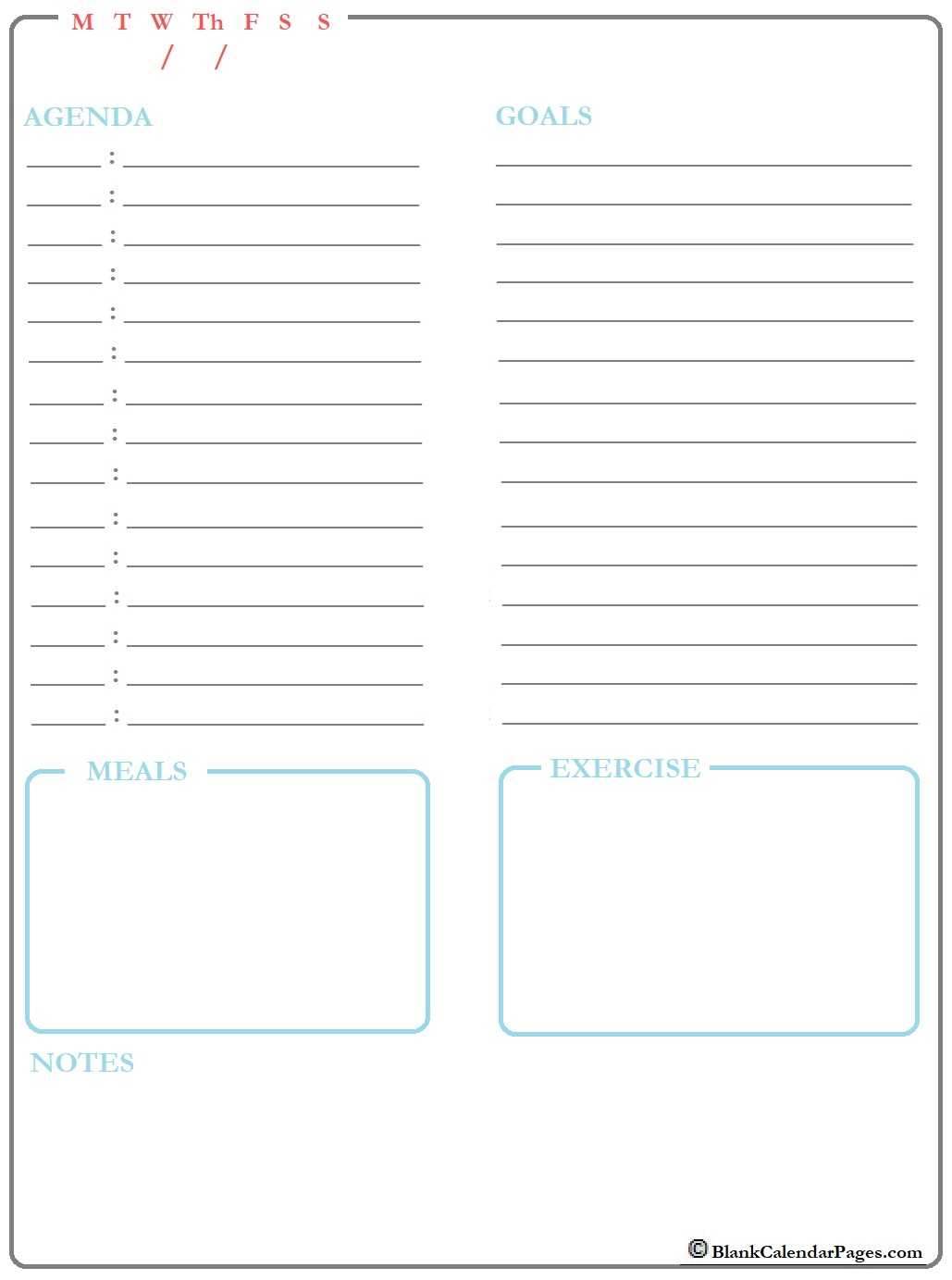 January 2020 Daily Calendar Template January 2020 Daily Planner