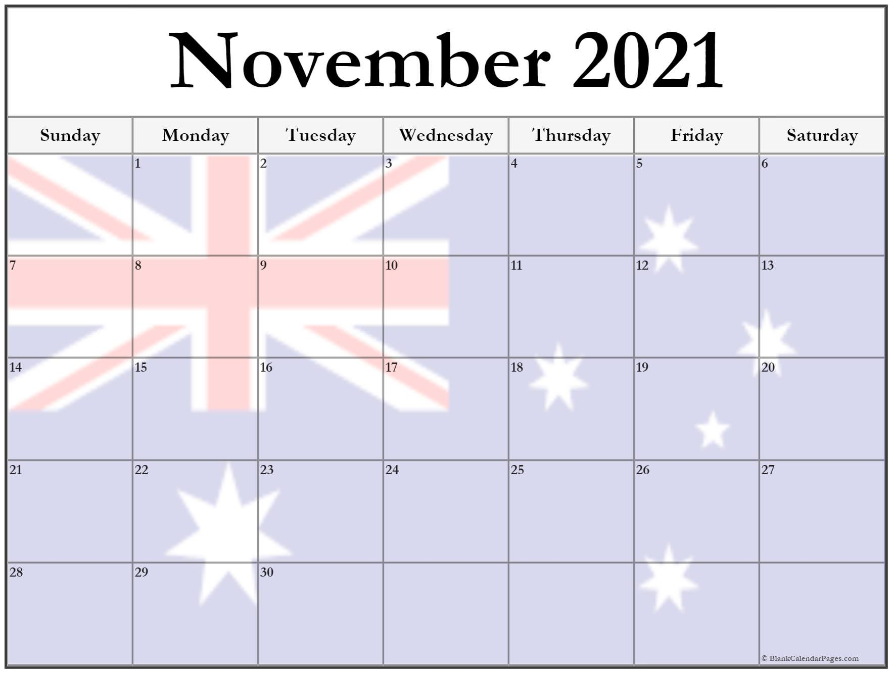 Thanksgiving dates 2019 in Australia