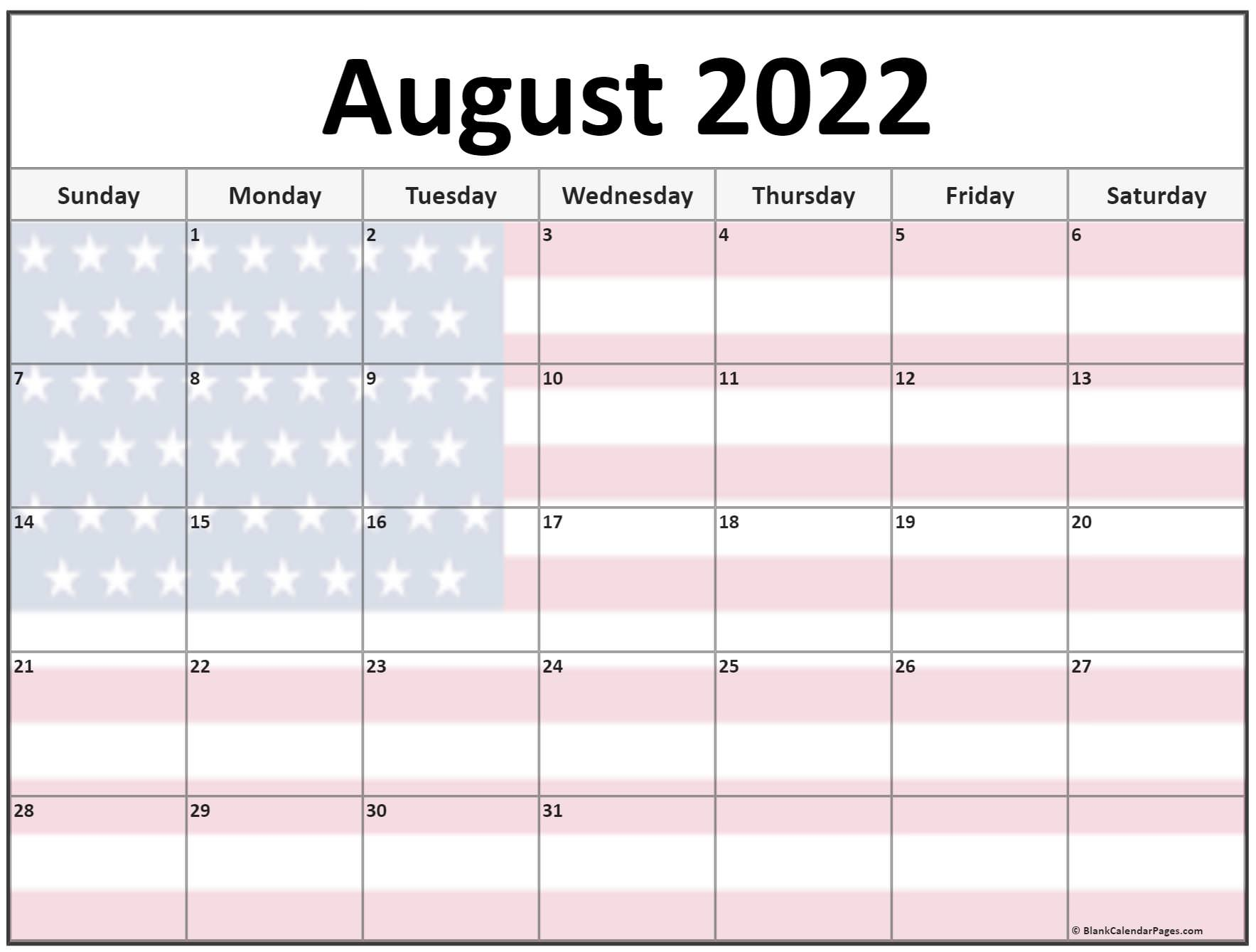 Aug 2022 Calendar.Collection Of August 2022 Photo Calendars With Image Filters