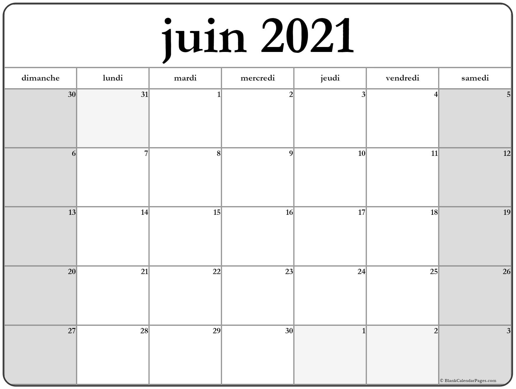juin 2018 calendrier imprimable