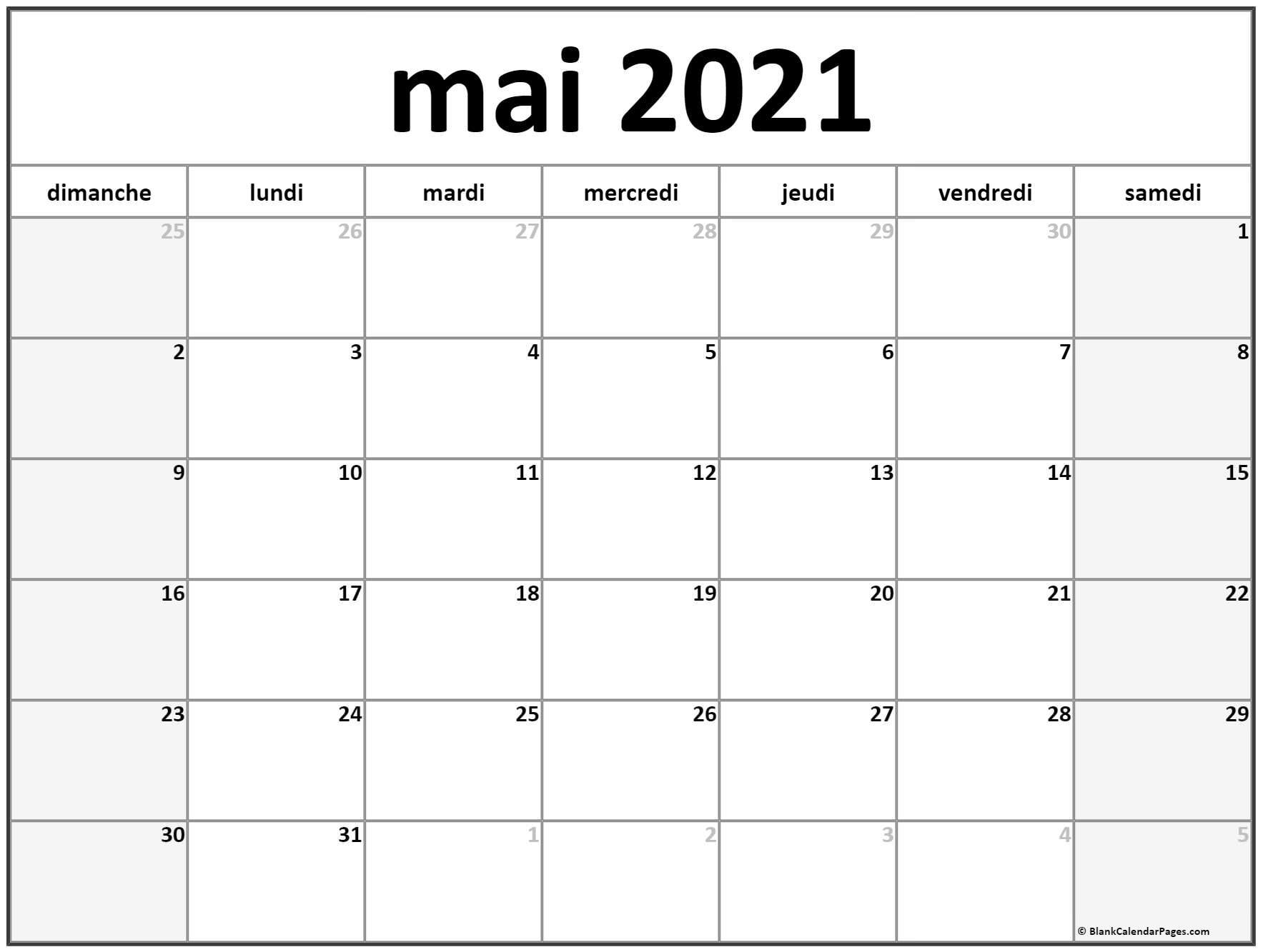 mai 2018 calendrier imprimable