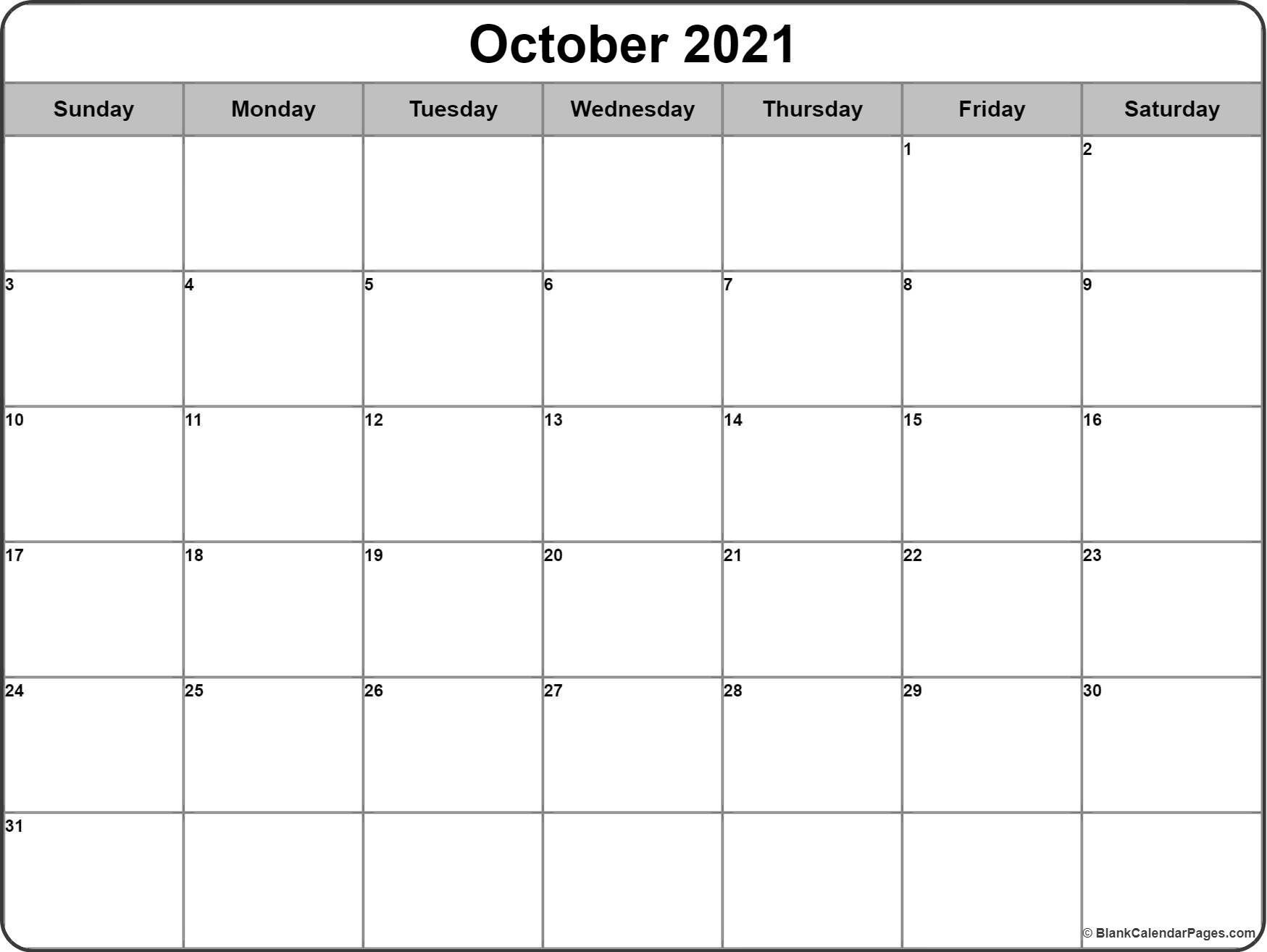 Weekly Calendar Blank Page : October calendar templates of