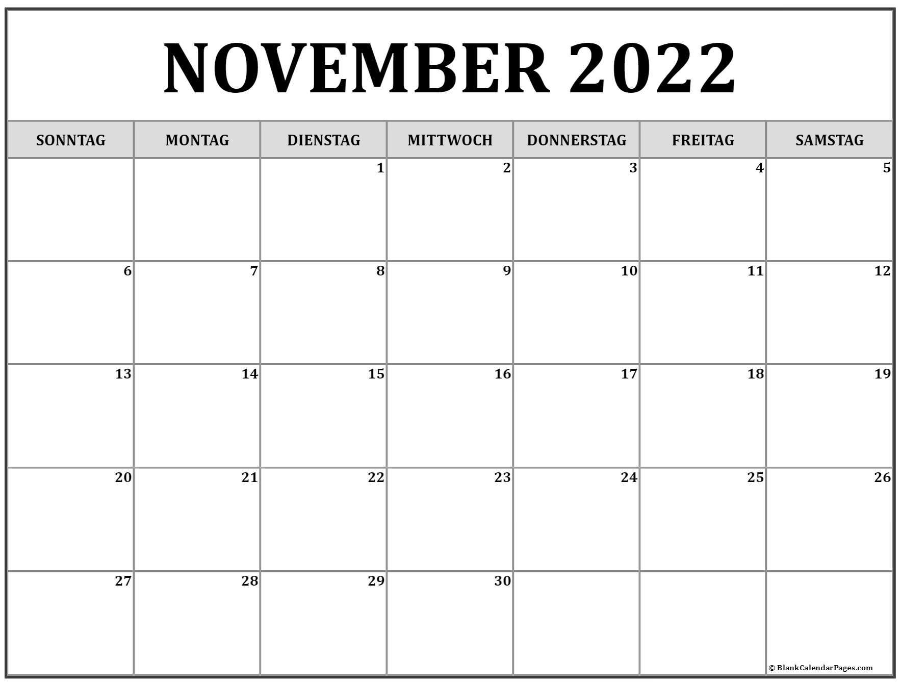 November 2022 kalender | kalender 2022
