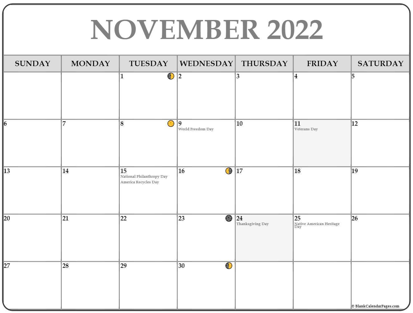 calendar 2017 November moon phase