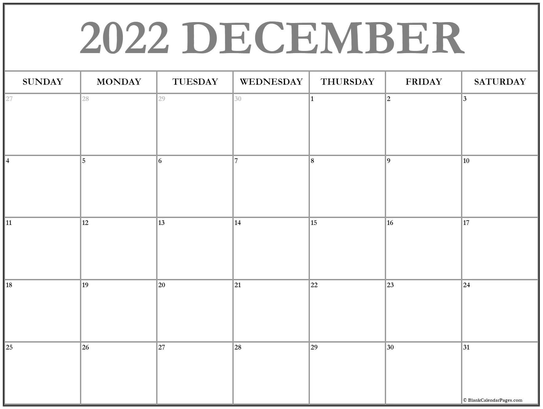 calendar 2018 December December calendar 2018 printable and free calendar
