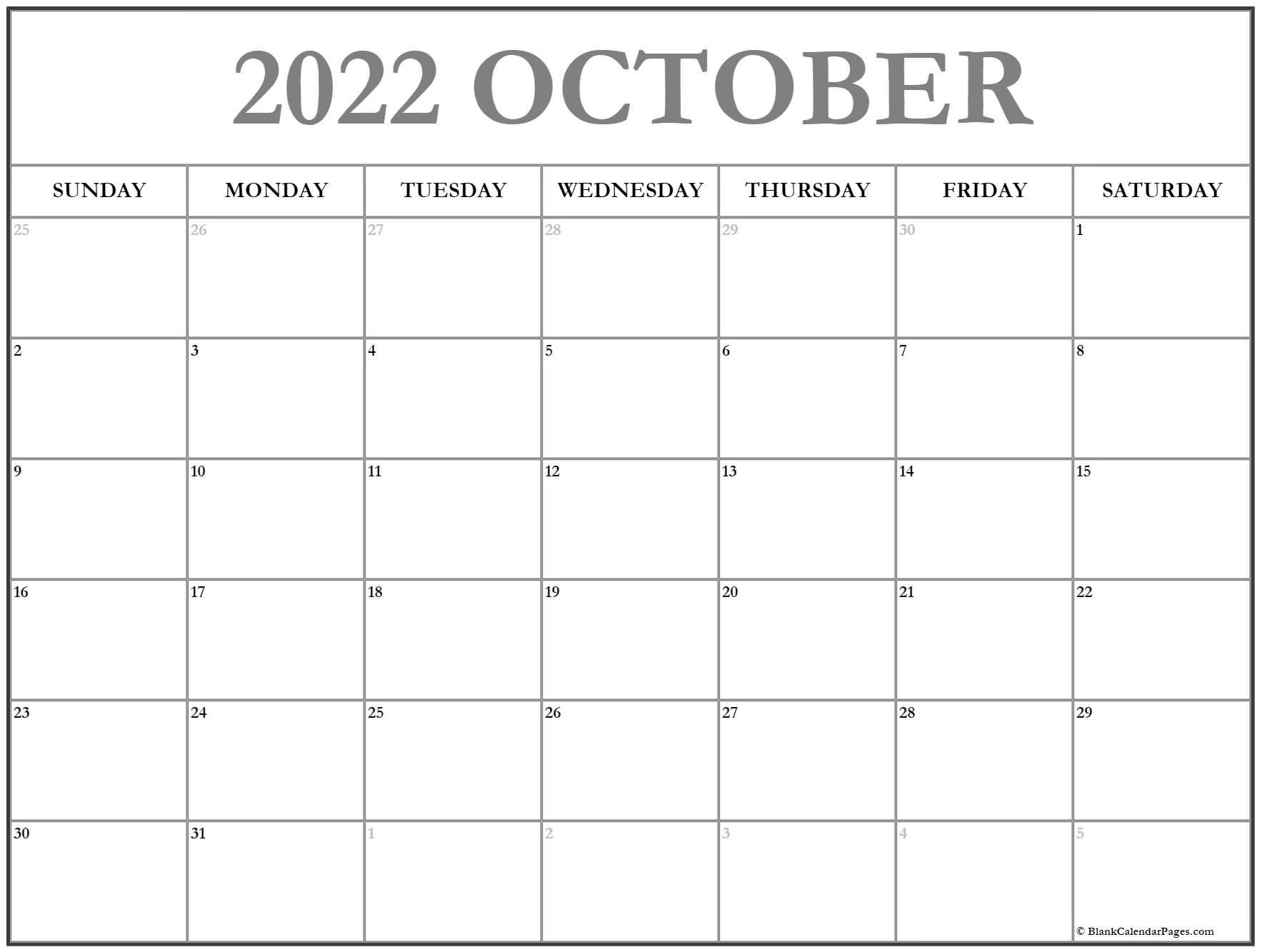 calendar 2019 October October calendar 2019 printable and free calendar