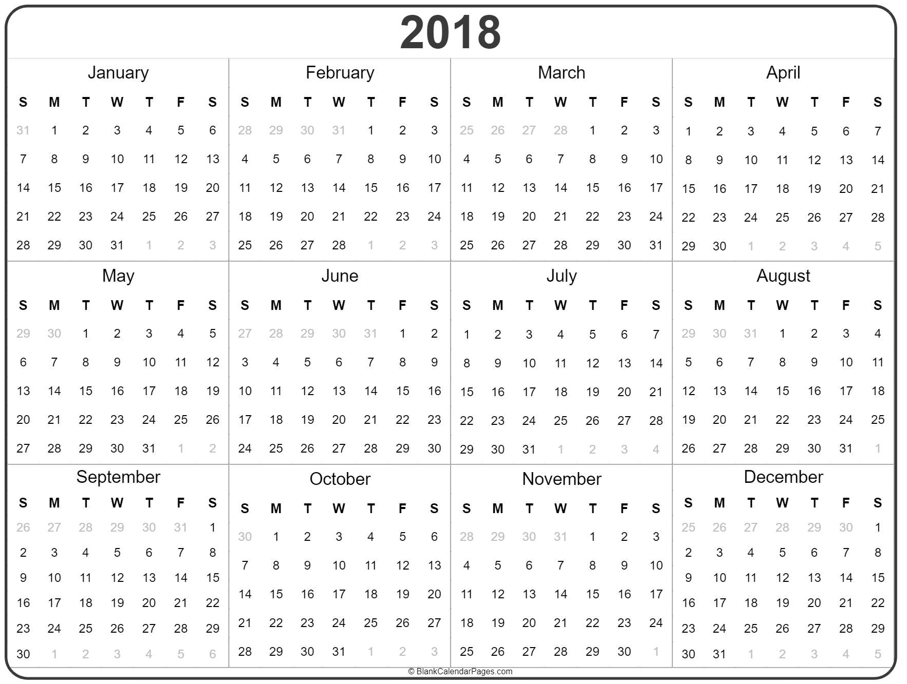 2018 year planner excel word pdf january 2018 calendar