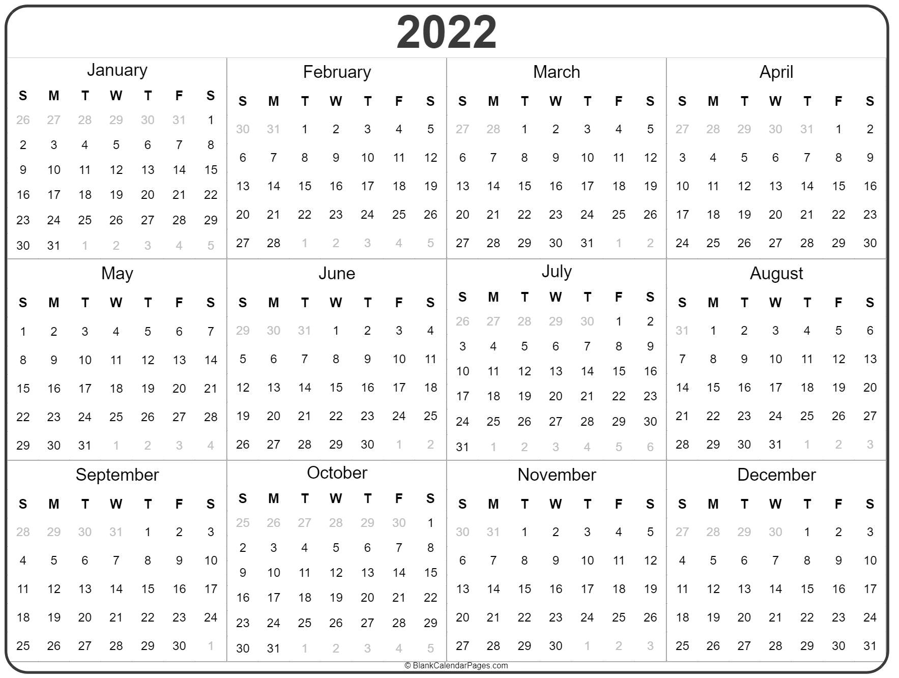 picture about 2022 Calendar Printable known as 2022 calendar year calendar every year printable