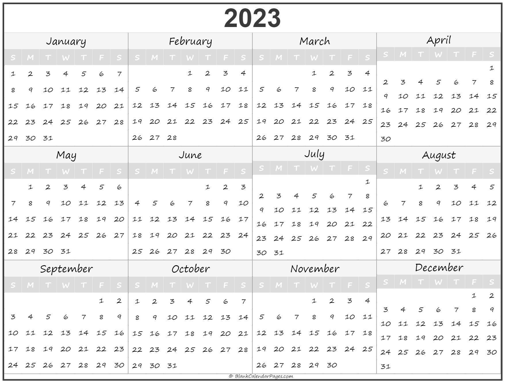 2023 printout