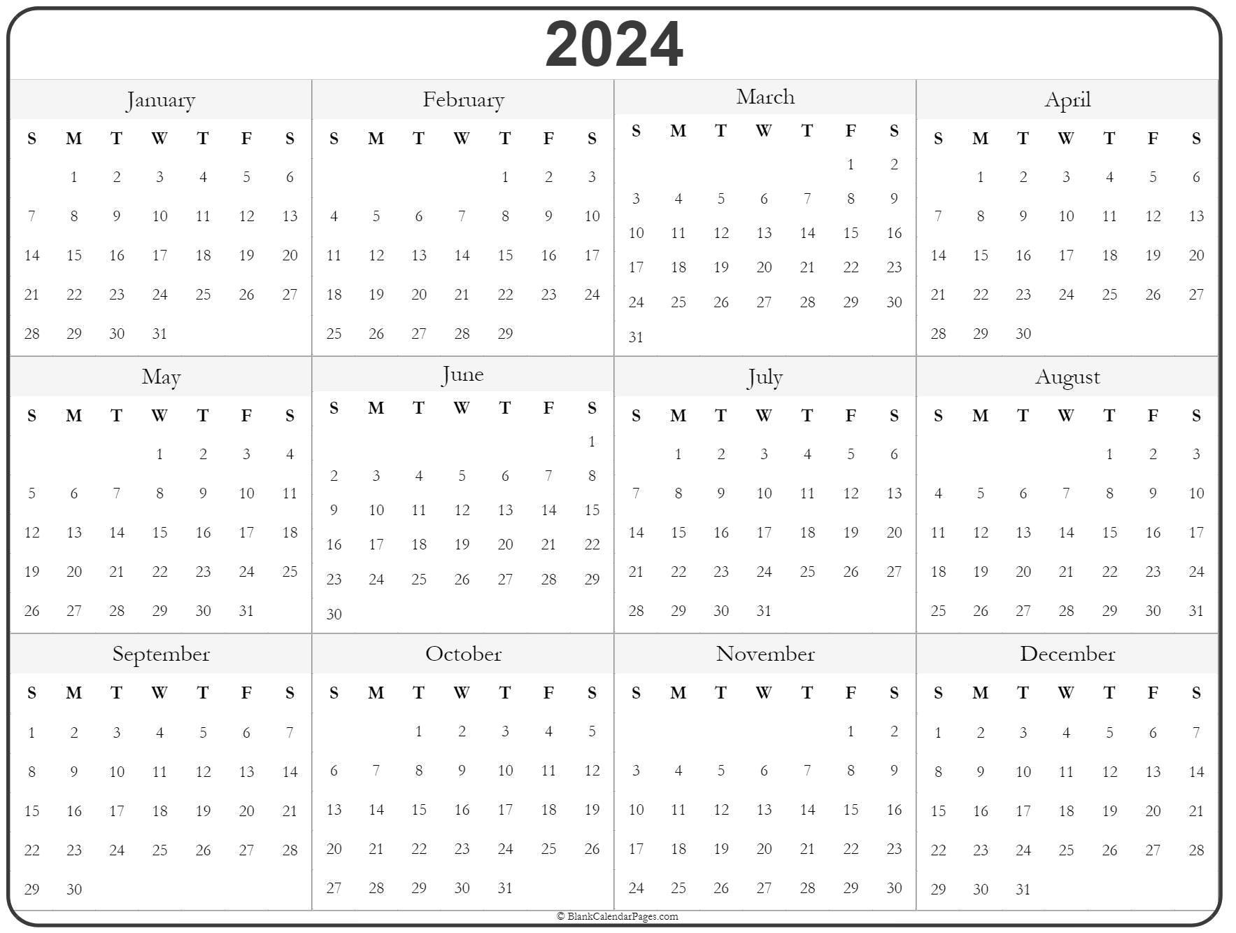 2024 printable